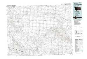 Harlem 1:250,000 scale USGS topographic map 48108e1