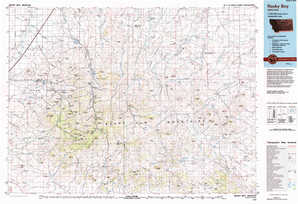 Rocky Boy 1:250,000 scale USGS topographic map 48109a1