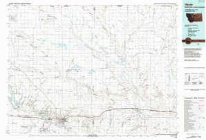 Havre 1:250,000 scale USGS topographic map 48109e1