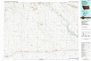 Chester topographical map