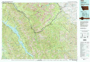 Hungry Horse Reservoir topographical map
