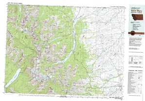 Saint Mary 1:250,000 scale USGS topographic map 48113e1