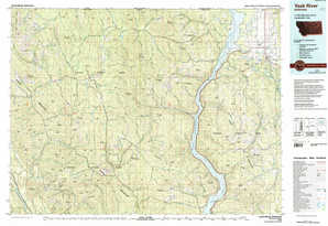 Yaak River 1:250,000 scale USGS topographic map 48115e1