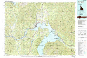 Sandpoint topographical map