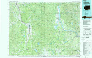 Chewelah topographical map