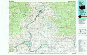 Omak topographical map