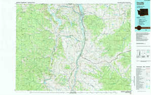 Oroville topographical map
