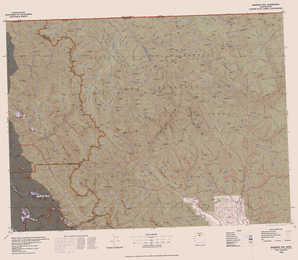 Robinson Mountain topographical map