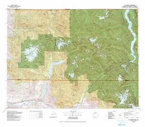 Mount Baker topographical map