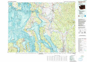 Port Townsend topographical map
