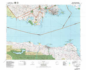 Port Angeles topographical map