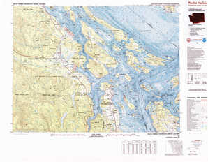 Roche Harbor topographical map