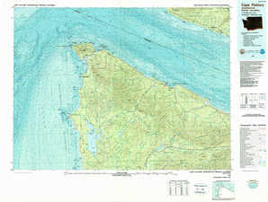 Cape Flattery 1:250,000 scale USGS topographic map 48124a1