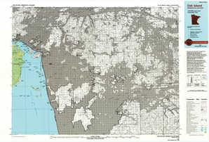 Oak Island topographical map