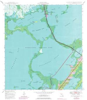 Blackwater Sound USGS topographic map 25080b4
