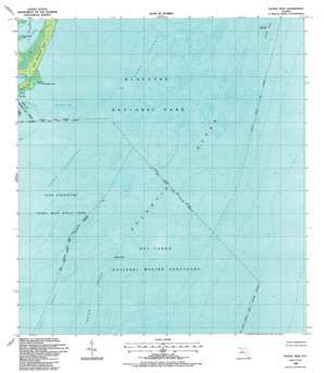 Pacific Reef topo map