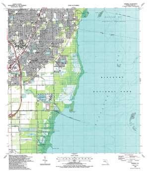 Perrine USGS topographic map 25080e3