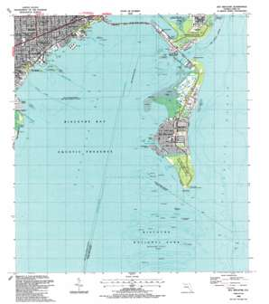 Key Biscayne USGS topographic map 25080f2