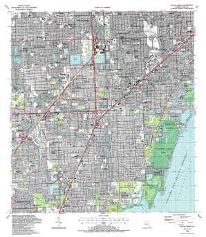 South Miami USGS topographic map 25080f3