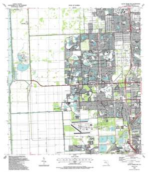 South Miami Nw USGS topographic map 25080f4