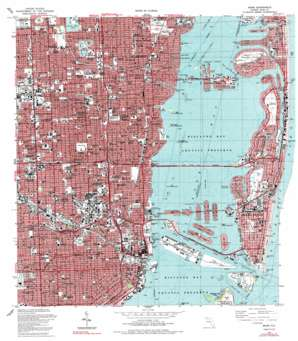 Miami USGS topographic map 25080g2