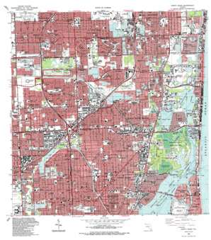 North Miami USGS topographic map 25080h2