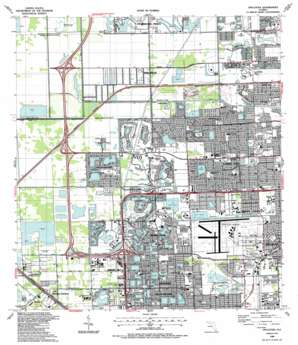 Opa-Locka USGS topographic map 25080h3