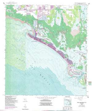 Fort Myers Beach USGS topographic map 26081d8