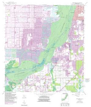 Fort Myers Sw topo map