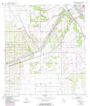 Indiantown Se topo map
