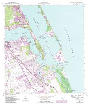 Saint Lucie Inlet topo map