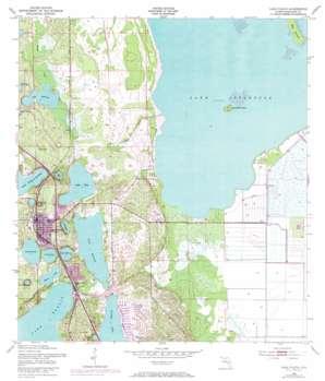 Lake Placid topo map