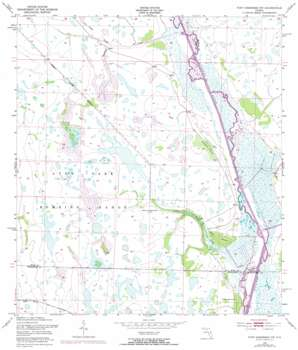Fort Kissimmee Nw USGS topographic map 27081f2
