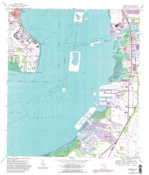 Gibsonton topo map