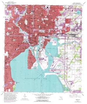Tampa topo map