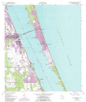 Melbourne East USGS topographic map 28080a5