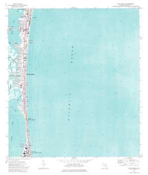 Cocoa Beach topo map