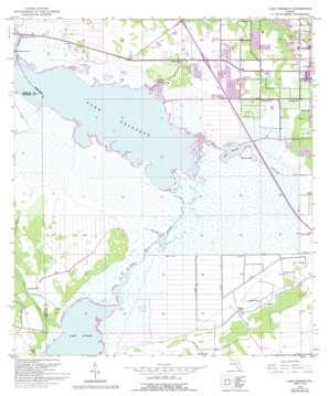 Lake Poinsett topo map