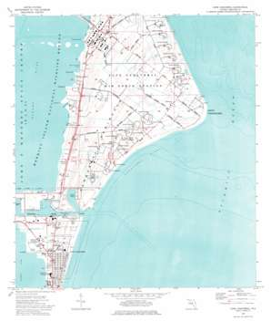 Cape Canaveral USGS topographic map 28080d5