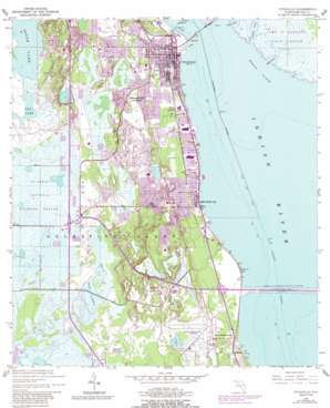 Titusville USGS topographic map 28080e7