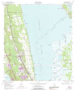 Mims USGS topographic map 28080f7