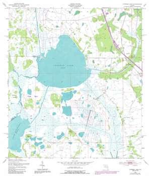 Cypress Lake topo map