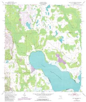 Lake Hatchineha USGS topographic map 28081a4