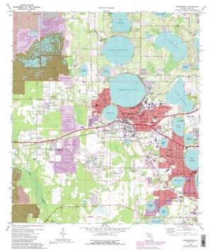 Auburndale USGS topographic map 28081a7