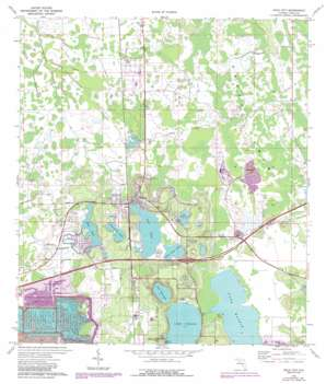 Polk City topo map