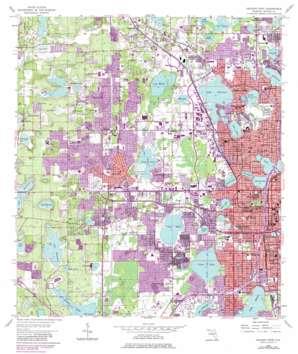 Orlando West USGS topographic map 28081e4