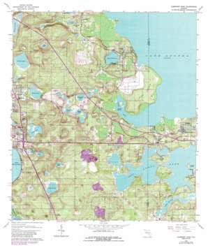 Clermont East USGS topographic map 28081e6