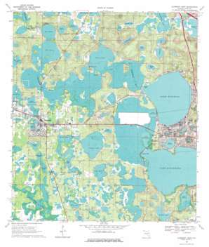 Clermont West USGS topographic map 28081e7