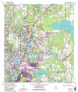 Casselberry USGS topographic map 28081f3
