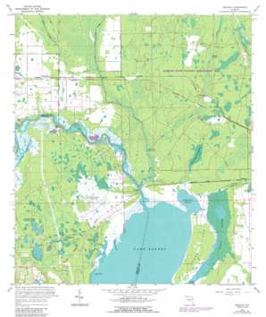 Osceola topo map